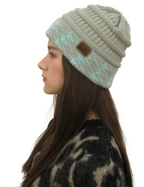 Fashion Light Gray Curling Shape Design Knitted Hat