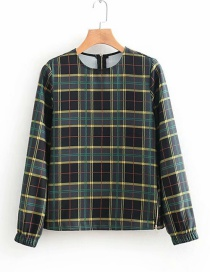 Fashion Black Grids Pattern Decorated Shirt