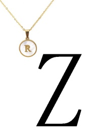 Fashion Gold Color Letter Z Shape Decorated Necklace
