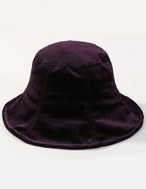 Fashion Purple Pure Color Decorated Hat