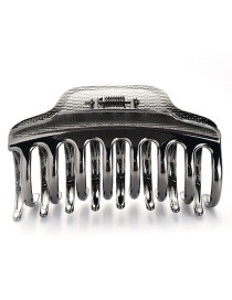 Elegant Black Hollow Out Design Pure Color Hair Claw(large)