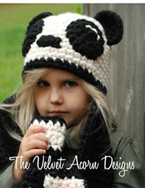 Lovely White+black Cartoon Bear Shape Design Child Hat