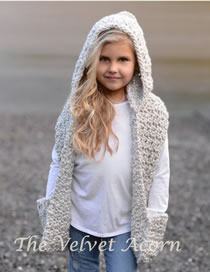 Lovely Beige Pure Color Design Child Knitted Cloak Cap