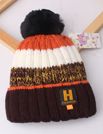 Fashion Coffee Letter H Decorated Baby Thicken Hat