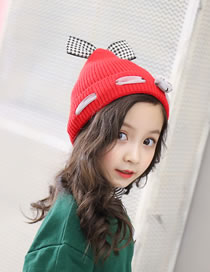 Fashion Red Bowknot&bear Decorated Baby Hat