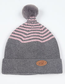 Fashion Gray Star Pattern Decorated Child Knitted Hat