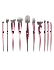 Fashion Rose Gold Geometric Shape Design Cosmetic Brush(10pcs)