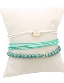 Fashion Pale Green U Shape Decorated Simple Bracele&anklet