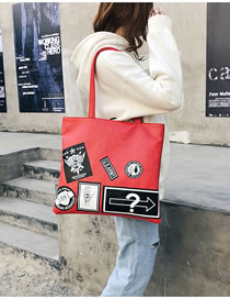 Elegant Red Cartoon Pattern Design High-capacity Bag