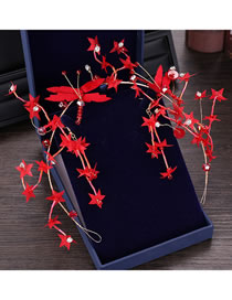 Fashion Red Flowers Shape Design Hair Accessories