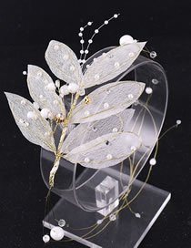 Fashion Gold Color Leaf Decorated Bridal Hair Accessories