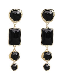 Fashion Black Geometric Shape Decorated Earrings