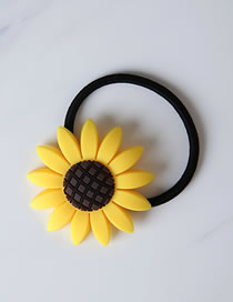 Fashion Yellow Sunflower Shape Decorated Hairband(l)