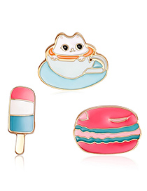 Fashion Multi-color Ice-cream Shape Decorated Clothing&bag Buckle(3pcs)