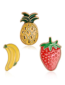 Fashion Multi-color Pineapple Shape Decorated Clothing&bag Buckle(3pcs)