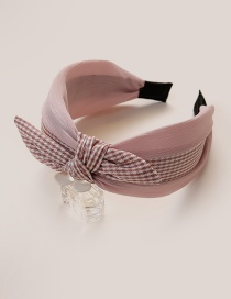 Fashion Pink Bowknot Decorated Hair Hoop