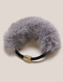 Fashion Gray Pure Color Decorated Hairband