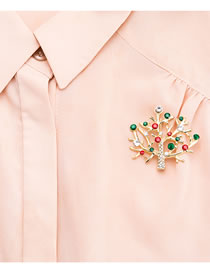 Fashion Multi-color Bowknot Shape Decorated Brooch