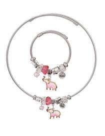 Juego De Collar Pulsera De Elefante