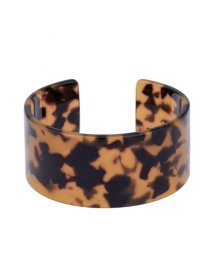 Fashion Brown Flower Pattern Decorated Opening Bracelet
