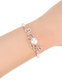 Fashion Silver Color Diamond&pearl Decorated Bracelet