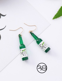 Fashion Green Bottle Shape Decorated Earrings