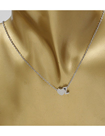 Simple Silver Color Letter Z&heart Shape Decorated Necklace
