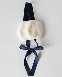 Fashion Navy Pure Color Decorated Earmuffs