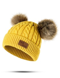 Fashion Yellow Pearl Decorated Pure Color Hat