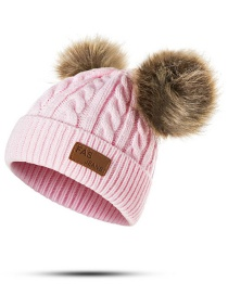 Fashion Pink Pearl Decorated Pure Color Hat