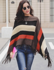 Fashion Green Stripe Pattern Design Simple Sweater