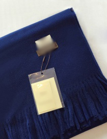 Fashion Navy Pure Color Decorated Scarf