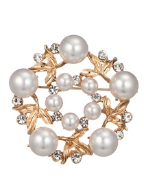 Fashion Gold Color Hollow Out Deisgn Brooch
