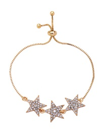 Fashion Gold Color Star Shape Decorated Bracelet