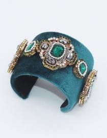 Fashion Green Diamond Decorated Bracelet