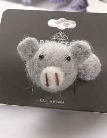 Lovely Gray Koala Shape Decorated Hair Band(1pc)