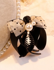 Fashion Beige Bowknot Shape Decorated Hair Claw
