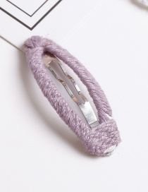 Lovely Purple Pure Color Design Simple Hair Clip