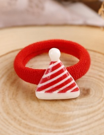 Lovely Red+white Christmas Hat Decorated Hair Band(1pc)