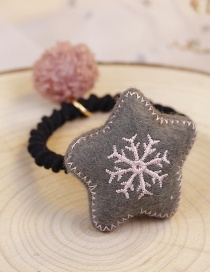 Lovely Gray Snowflake Pattern Decorated Hair Band