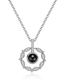 Fashion Silver Color Hollow Out Round Shape Decorated Necklace