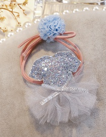 Fashion Blue Dress Shape Decorated Hairband