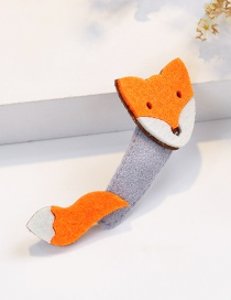Fashion Orange Fox Shape Decorated Hair Clip