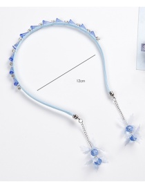 Fashion Blue Diamond Decorated Hair Hoop