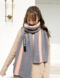 Fashion Gray Letter Pattern Decorated Thicken Scarf