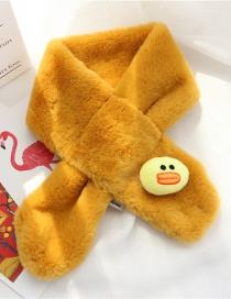 Fashion Yellow Duck Shape Decorated Child Scarf