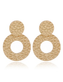 Elegant Gold Color Pure Color Design Round Shape Earrings