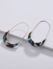 Fashion Blue U Shape Design Earrings
