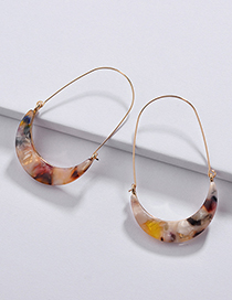 Fashion Multi-color U Shape Design Earrings