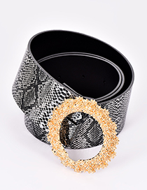 Fashion Silver Color Round Shape Decorated Belt